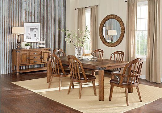 Eric Church Highway To Home Heartland Falls Brown 5 Pc Rectangle Dining Room Find Affordable Sets For Your That Will Complement The Rest Of