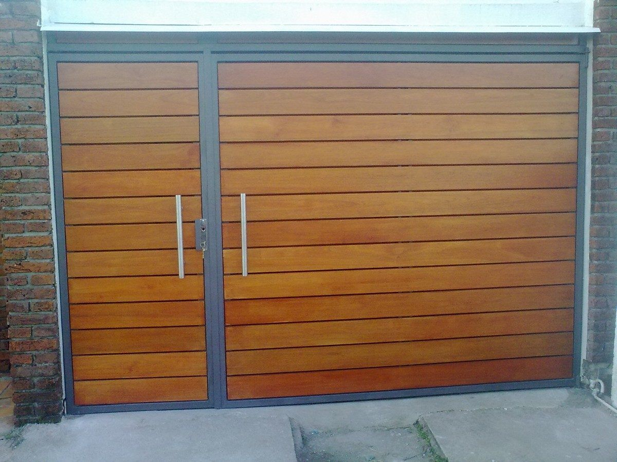 Portones basculantes corredizos batientes porton - Garage de madera ...