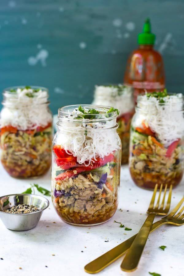 Quick Amp Easy Chicken Spring Roll Jars Recipe Chinese
