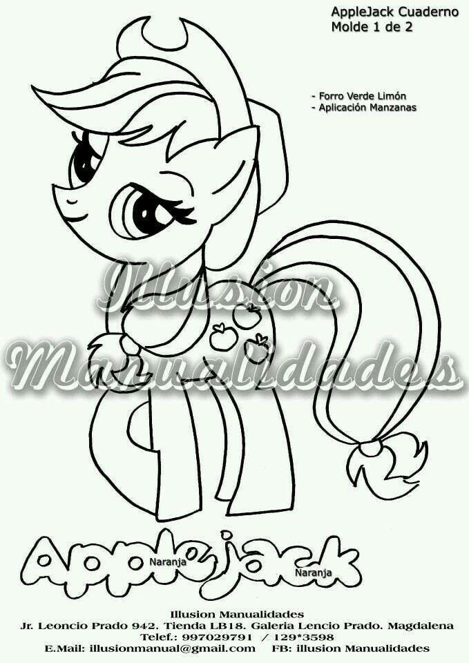 Applejack | My little ponny | Pinterest | Dulceros, De animales y ...