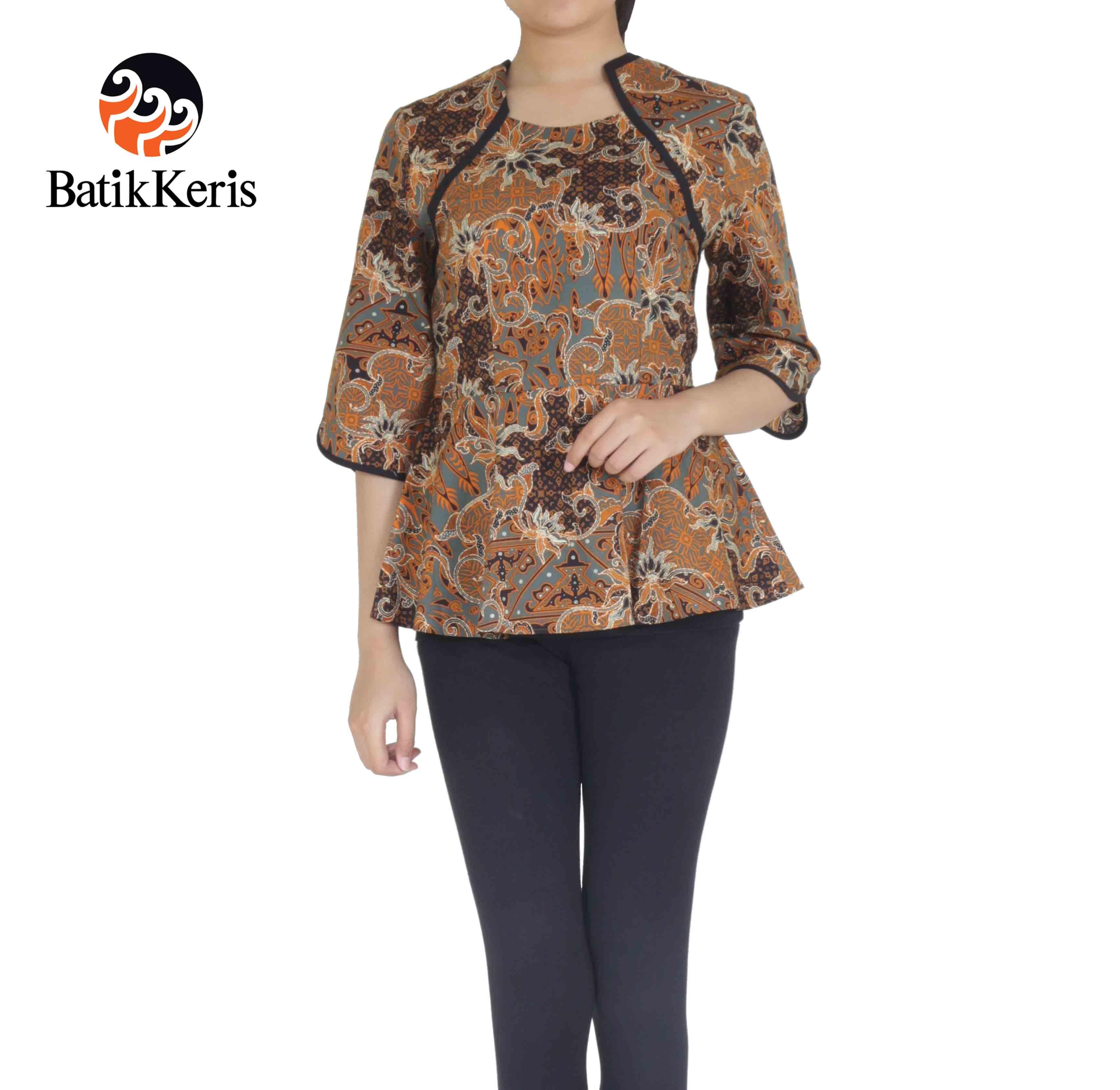 Model Baju Batik Wanita Lengan 8/8 di 8  Wanita, Model pakaian