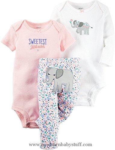 ff618d30d Baby Girl Clothes Carter s Baby Girls 3 Pc Back Art 126g368