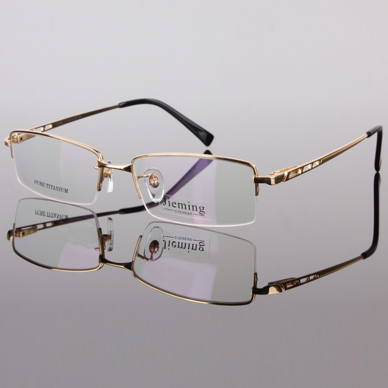 8b9621c4799 Men s fashion eyeglass gold frame ultralight titanium frames eye glasses  frames for men optical frame 8253
