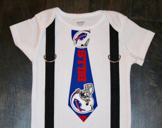 696d02b6 Buffalo Bills tie and suspenders onesie / bodysuit Buffalo | NFL ...