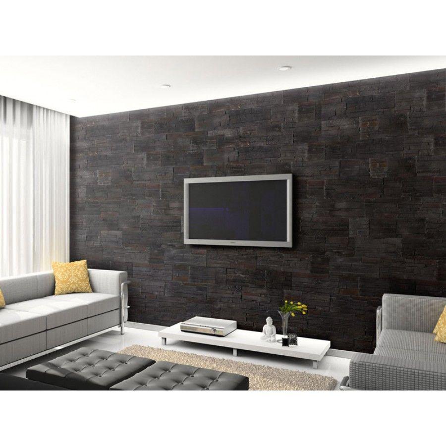 Plaquettes De Parement Brasilia Black Interieur Maison Inspiration Salon Maison