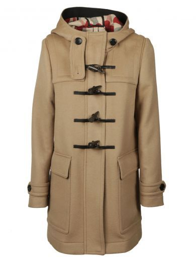 BURBERRY Check And Hearts Lining Duffle Coat. #burberry #cloth #coats-jackets