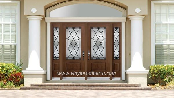 Double Entry Doors With Sidelights And Transom Double