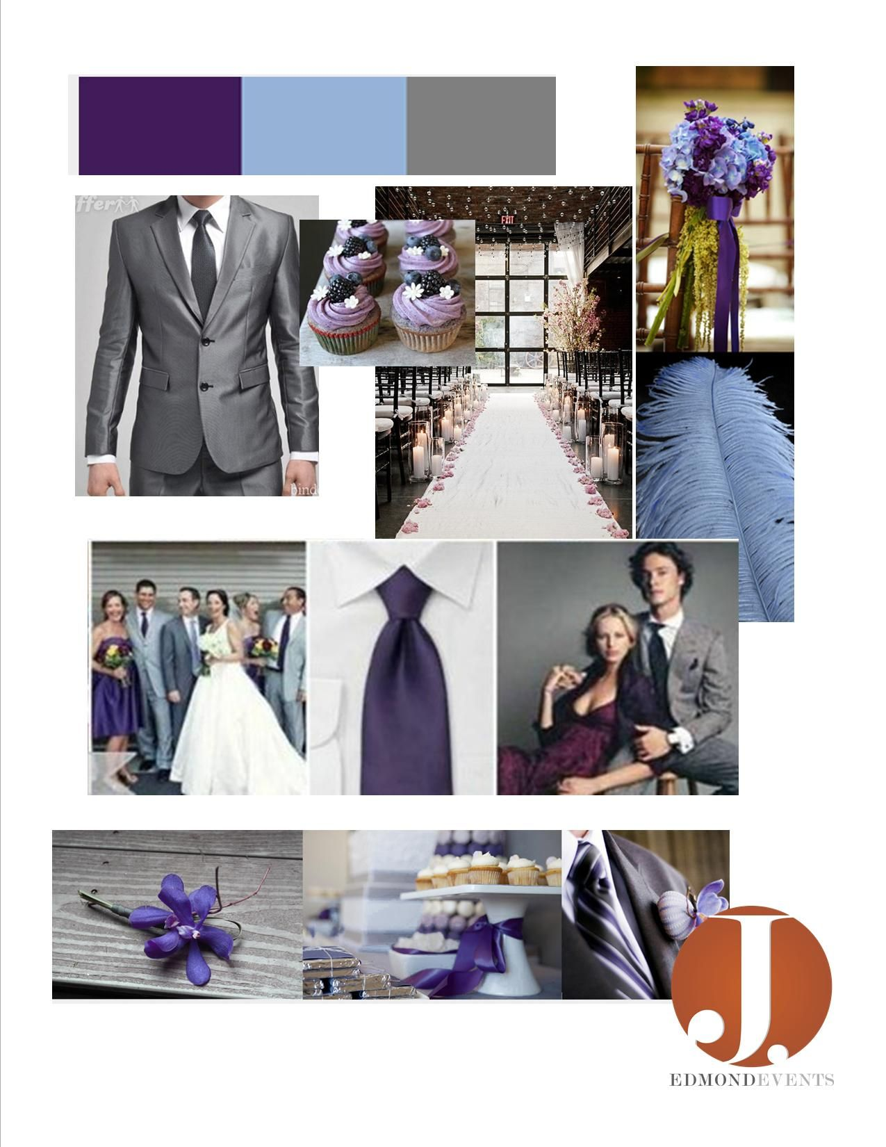 Plum Powder Blue And Grey Wedding Colors Blue Grey Weddings