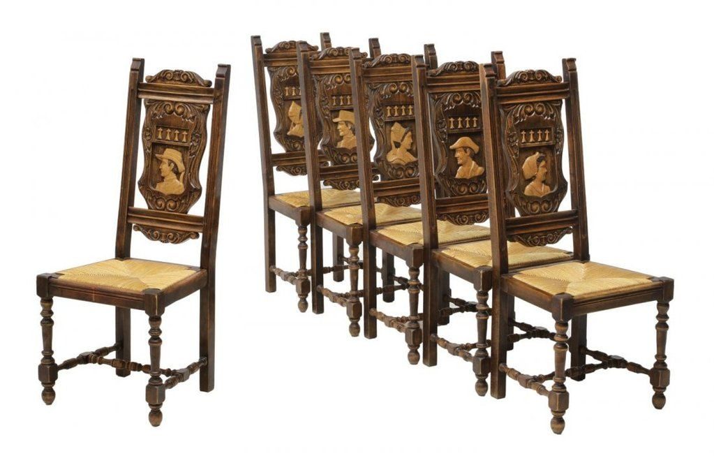 Stunning Carved French Breton Dining Table Chairs And Sideboard Ear Old Europe Antique Home Furnishings Dining Table Chairs Furniture Styles Dining Table