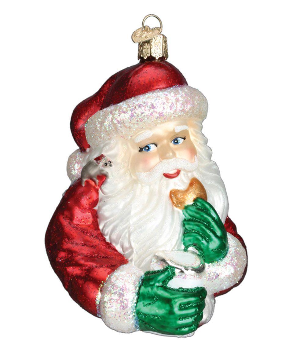 Old World Christmas Ornaments: Irish Santa Glass Blown Ornaments for ...