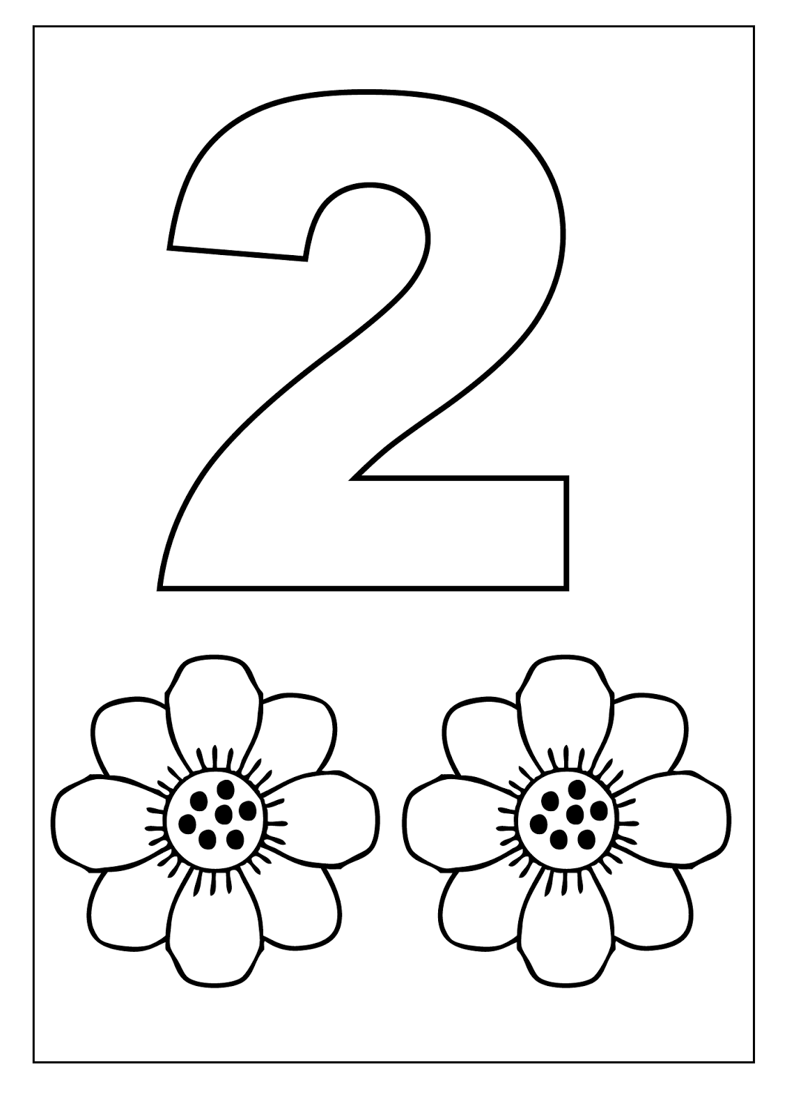 Worksheets For 2 Year Olds Number 2