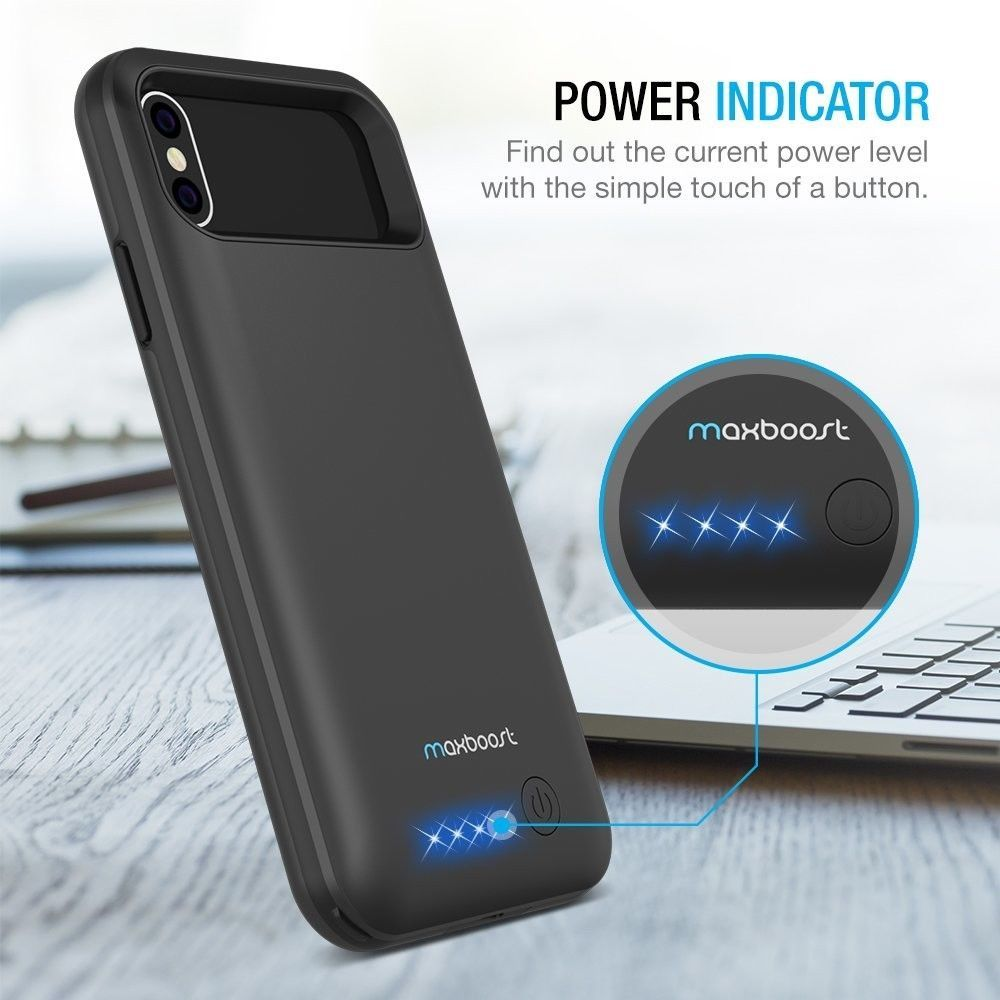 Battery Case Charger For iPhone X Power Bank 4000mAh Backup Charger Cover  Case  def7da574928