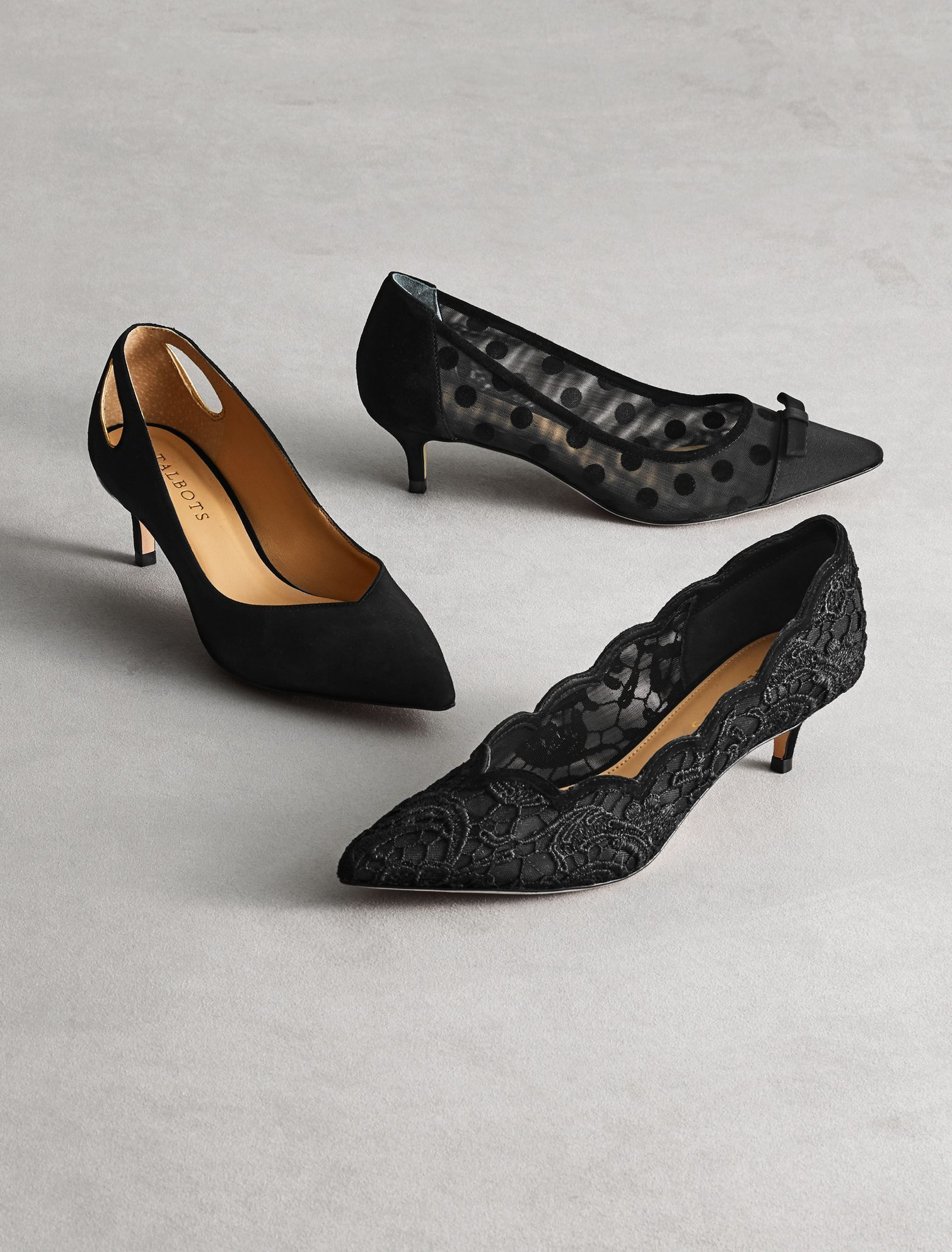6a35969446de3 Wear these fun kitten-heel pumps from work to dinner with ease. | Talbots  Winter 2018