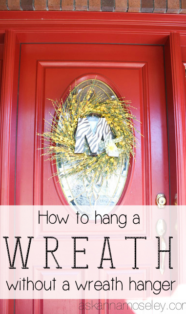 Merveilleux How To Hang A Wreath On A Glass Door Without A Wreath Hanger   Ask Anna