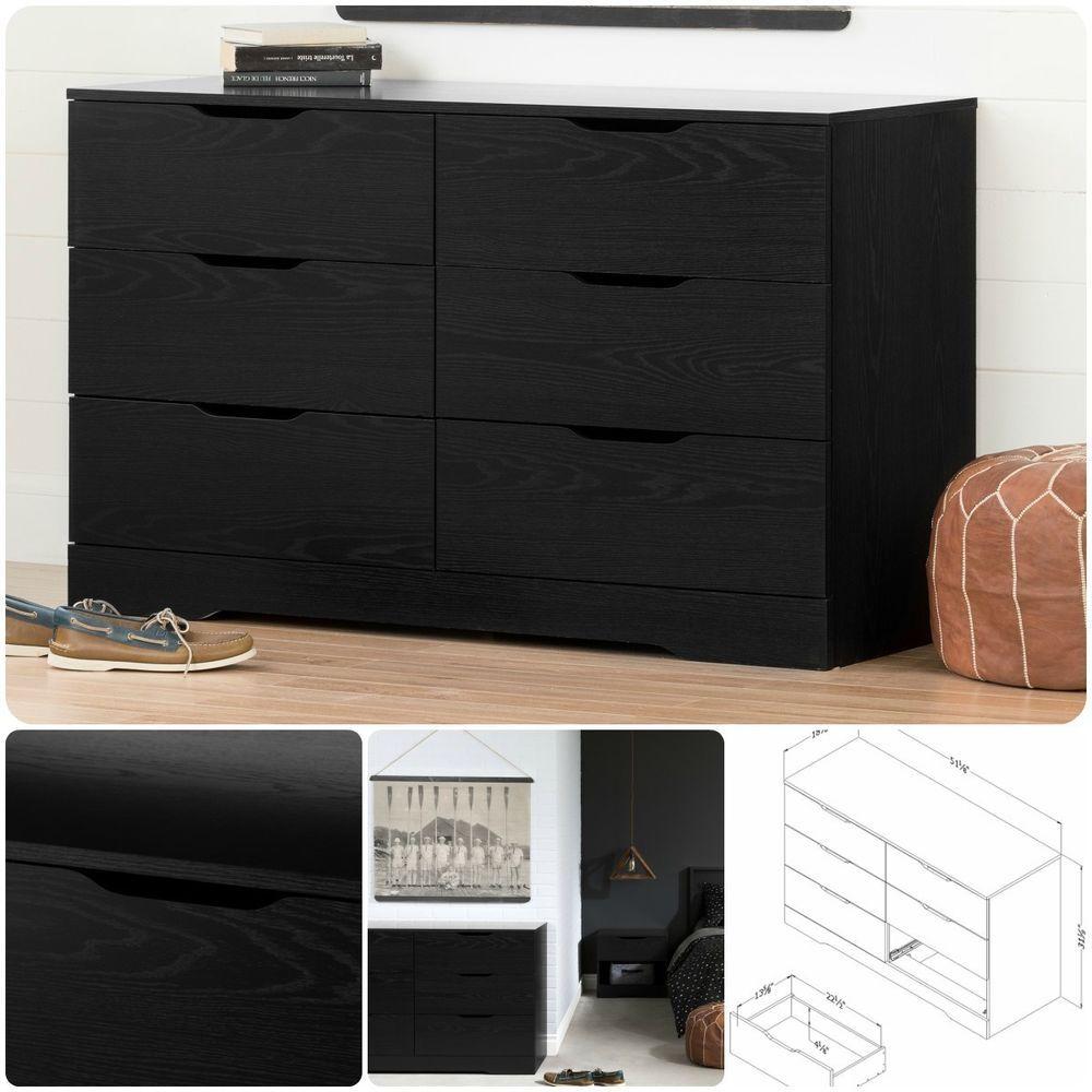 drawer black dresser double bedroom wood furniture storage chest