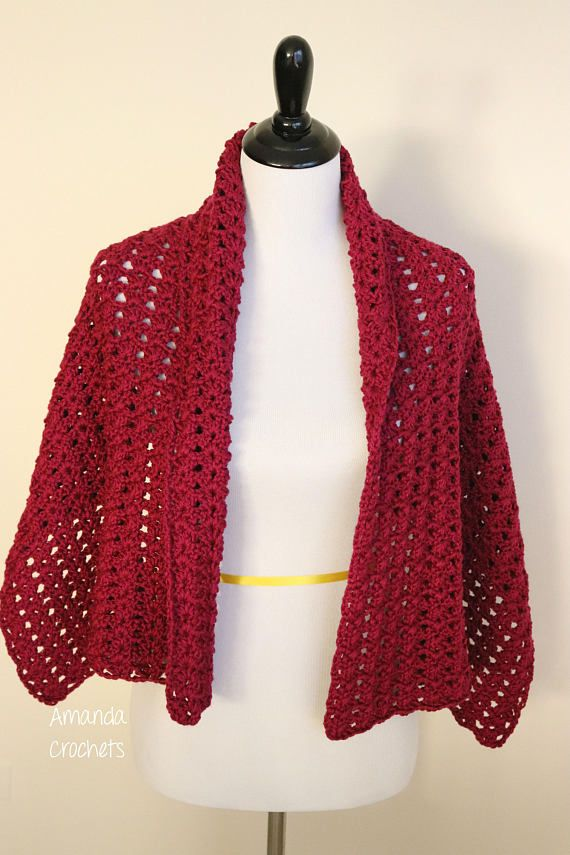 This listing is for the PDF pattern file for the image above. This crochet shawl pattern features a beautiful lacy design. Perfect for those chilly days! The pattern includes instructions to make a 20x51 shawl. When you purchase this pattern, you will receive an instant prompt for