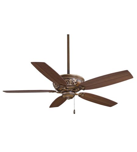 Minka-Aire F659-BCW Classica 54 inch Belcaro Walnut with Dark Walnut Blades Ceiling Fan