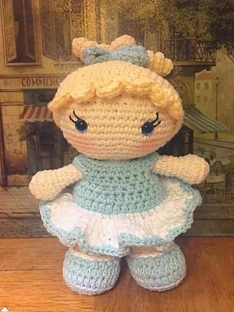 This is a free crochet doll pattern. The pattern includes the base ...