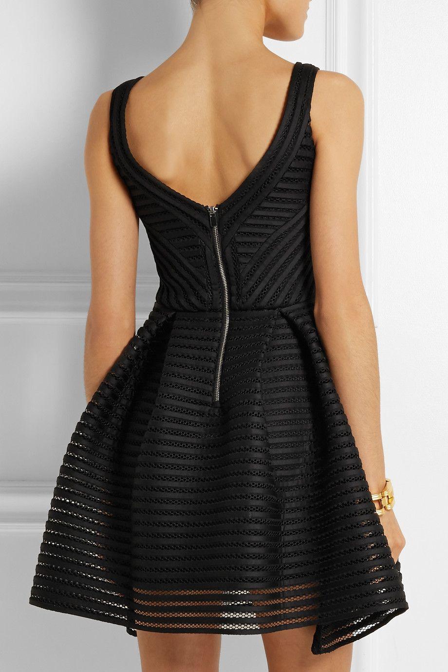 Maje Mesh-striped jersey dress NET-A-PORTER.COM