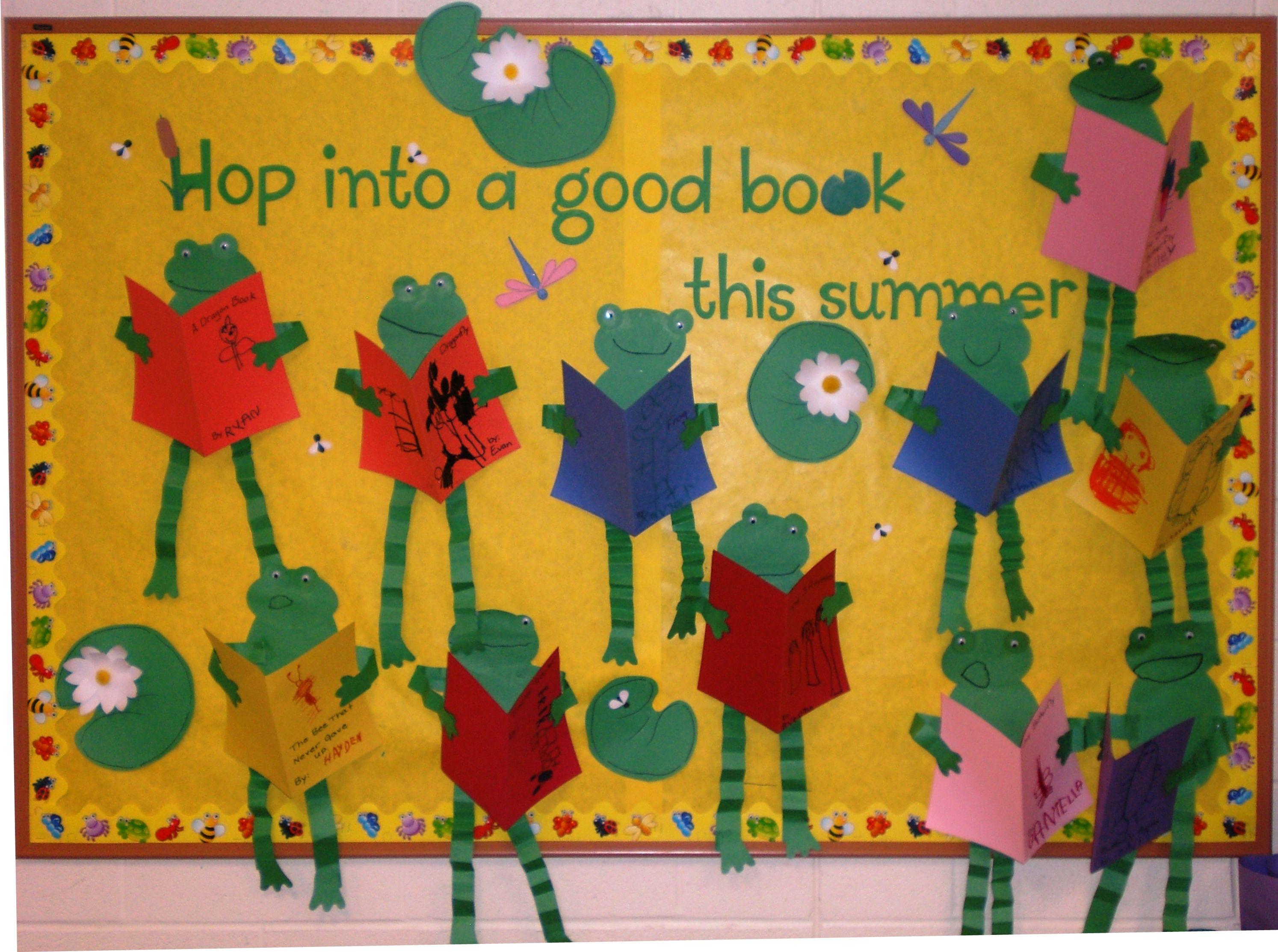 Frog Summer Reading Bulletin Board