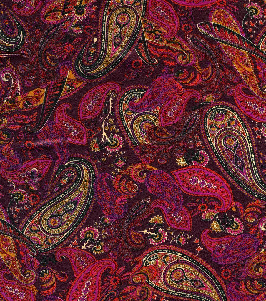 simply silky prints charmeuse fabric paisley berry fabrics