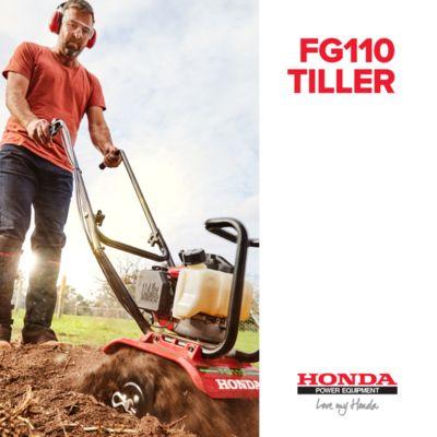 Start prepping your soil for spring planting with the FG110 Tiller - healthy soil means stronger plants!  #Honda #Hondapowerequipment #lovemyhonda #gardening #soil #tiller #roteryhoe #cultivator #garden #geraldtonmowers #weareyardsinfront #tg110