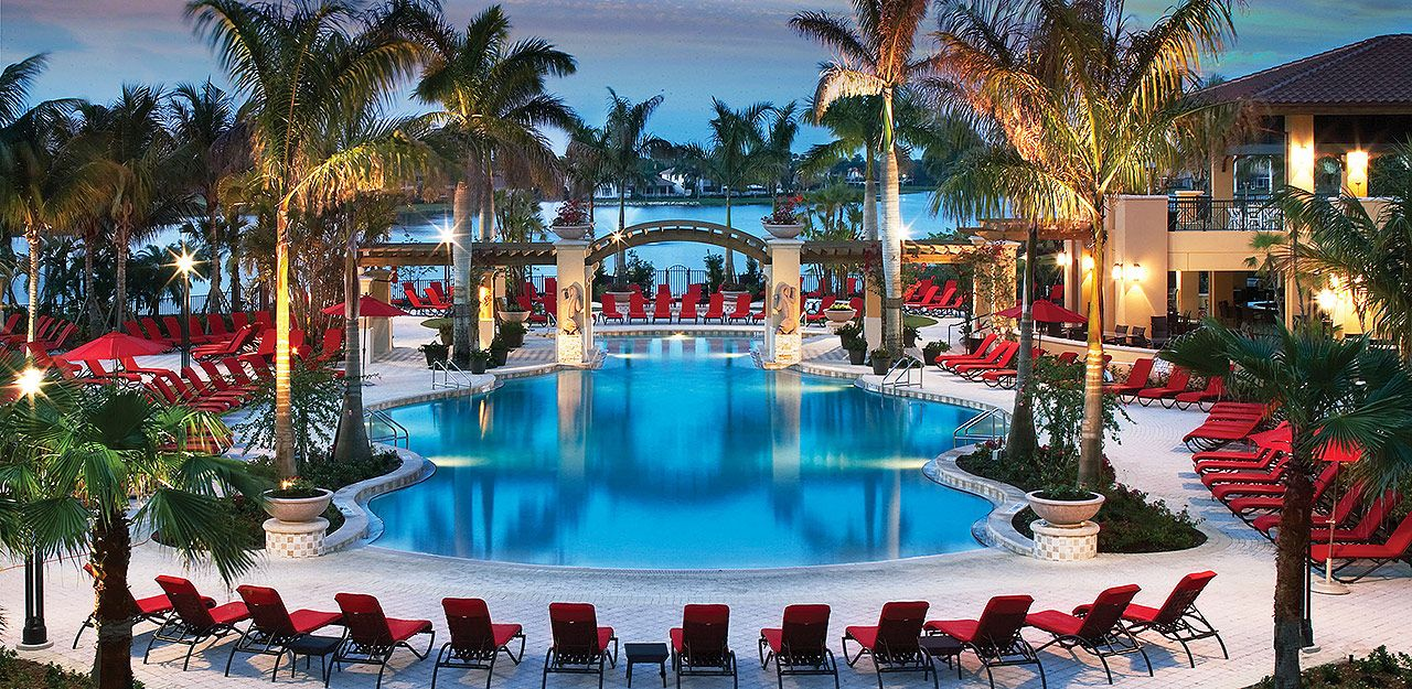Our Zero Entry Resort Pool Is A Centerpiece Of Pga National Resort