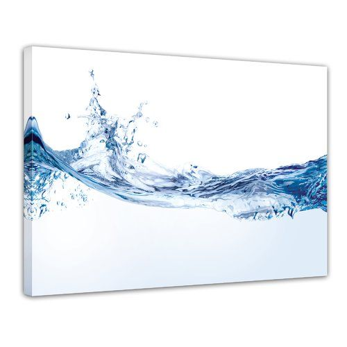 Water Splash Framed Photographic Art Print on Canv