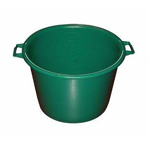 ALUMINIUM ET PLASTIQUE - Baquet rond 30 L - D: 45 cm - H 29 cm - vert