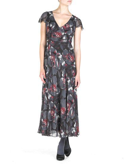 Winter Poppy Maxi Dress