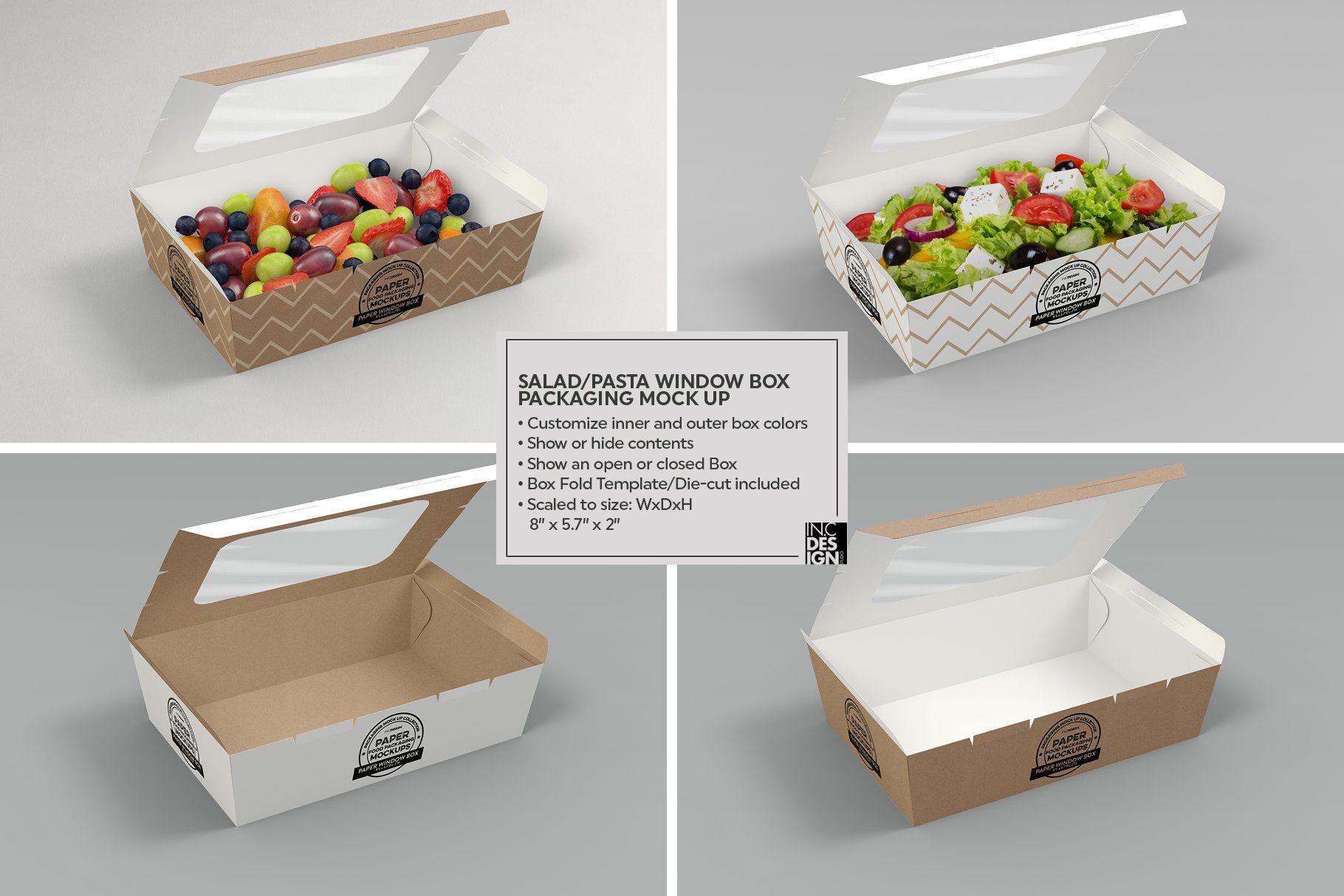Download Clamshell Window Box Mockup Box Mockup Free Packaging Mockup Window Box