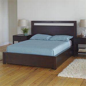 Dark Mahogany Chase Platform Queen Headboard Bedroom Furniture Bed Furniture Bedroom Headboard