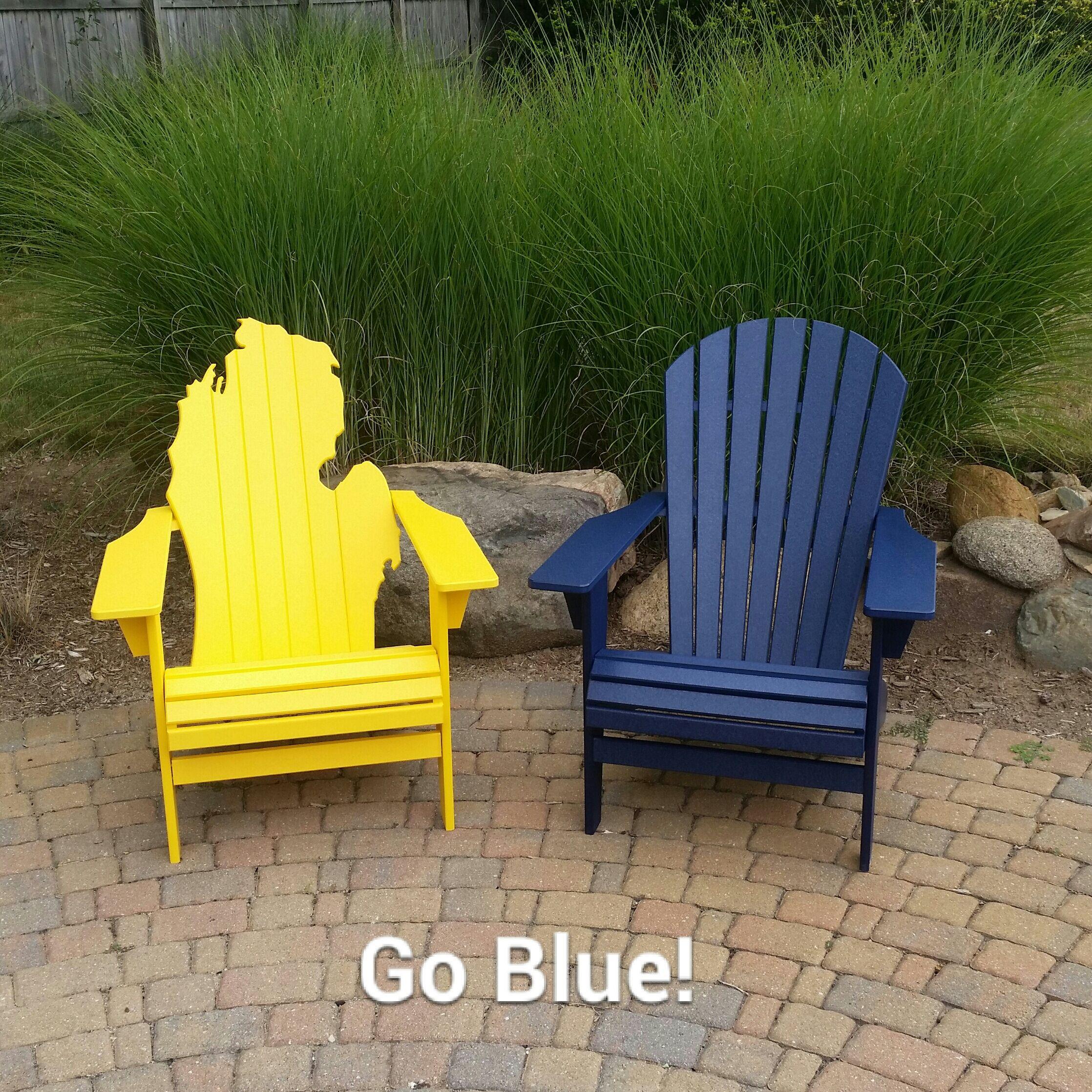 Poly Lumber Adirondack Chairs www.truaxoutdoorliving.com #
