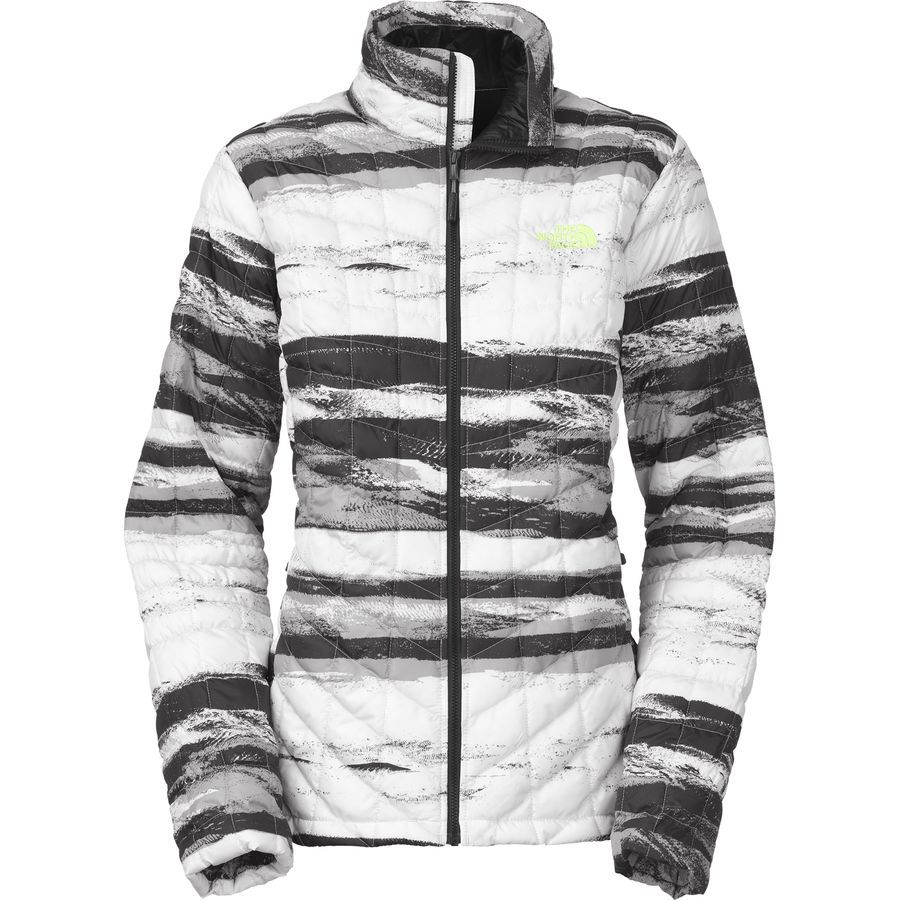 1f55889803ec ... low price the north face thermoball insulated jacket womens tnf black  desert stripe print 2a158 09171