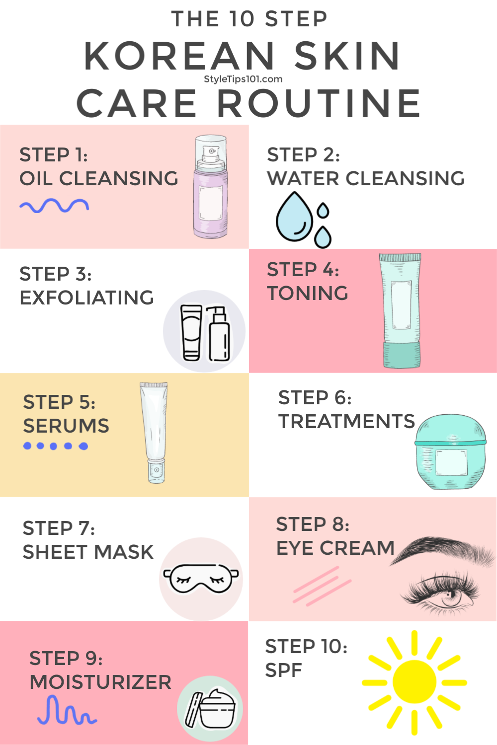 10 Step Korean Skin Care Routine Care Korean Routine Skin Step Skin Care Routine Steps Skin Care Korean Skincare Routine