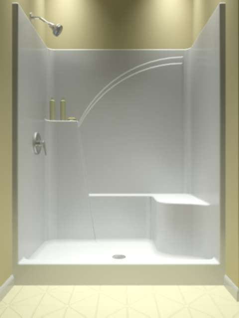 Acrylic One Piece Tub Shower. Shower Only  One Piece piece shower The idea of a one insert will