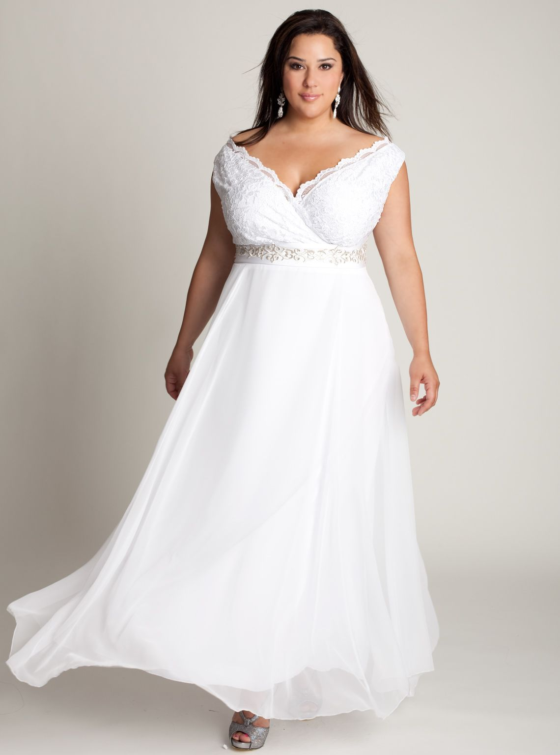 summer outdoor casual wedding dresses for plus size | plus sized