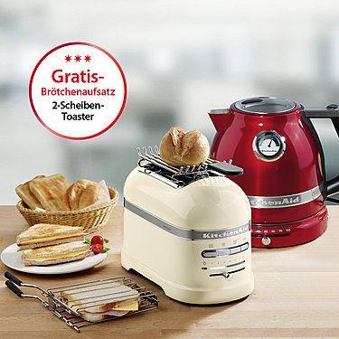 KitchenAid 2-Scheiben-Toaster Artisan, Creme Toasters and KitchenAid - kitchenaid küchenmaschine artisan rot