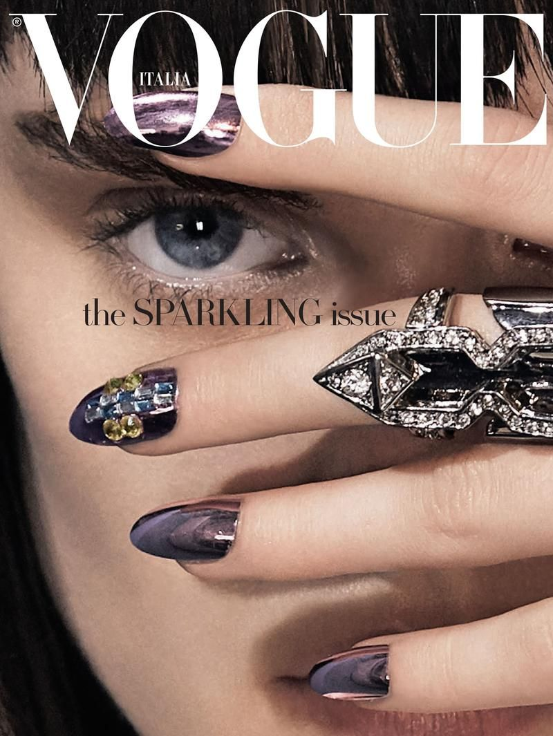 Model with new nail-painting style for Vogue Italia Magazine ...