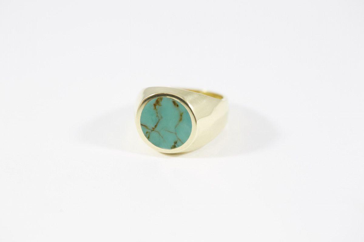 Round Stone Signet Turquoise