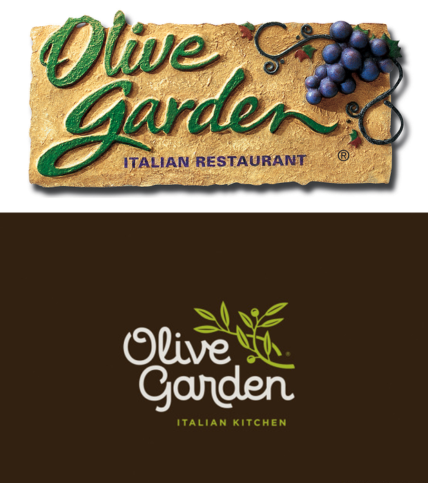 Olive Garden Old Vs New Logo Design Png 620 700 Olive Gardens Olive Italian Restaurant