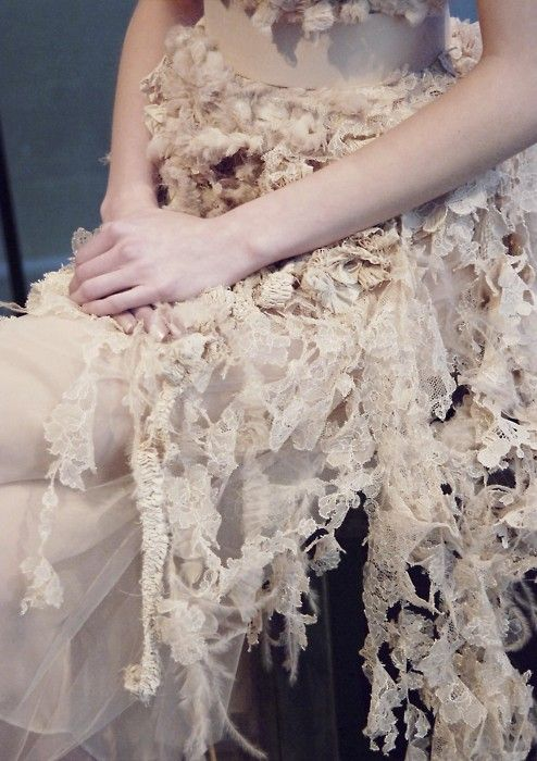 givenchy S/S 06.  shredded lace.