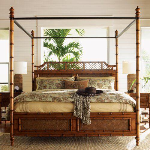Tommy Bahama Island Estate West Indies Poster Bed Muebles De Dormitorio De Madera Dormitorios Colores Para Dormitorio