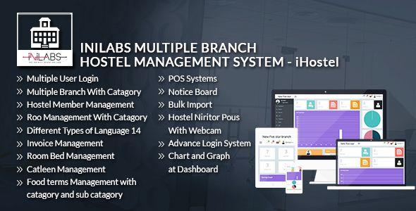 Ihostel Inilabs Multi Branch Hostel Management System Pos