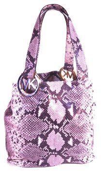 Michael Kors Snakeskin Shoulder Bag #handbag #fashion