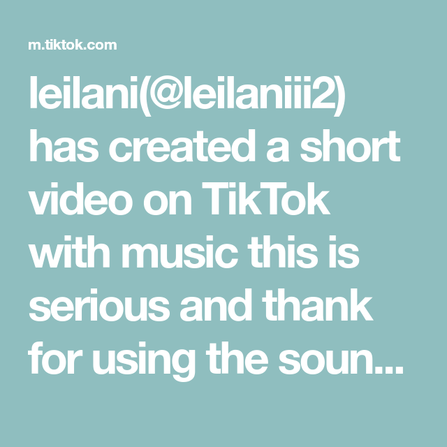 Leilani Leilaniii2 Has Created A Short Video On Tiktok With Music This Is Serious And Thank For Using The Sound A In 2021 Wellness Tips Improve Yourself Health Tips