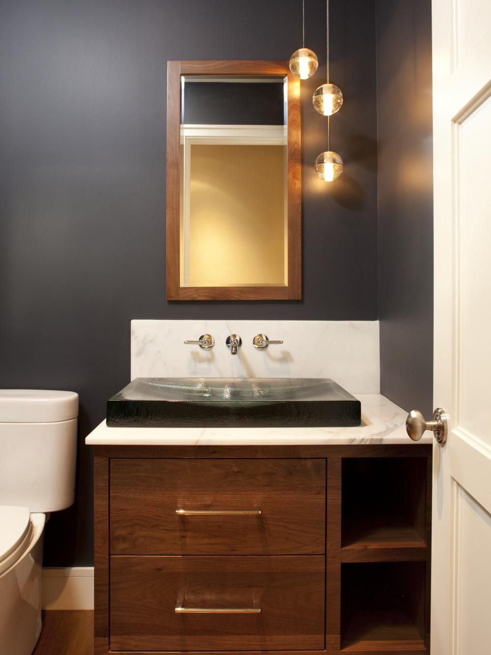 Illuminating Ideas for Beautiful Bathroom Lighting | Powder room ...