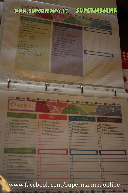 Control journal flylady schemi per l 39 organizzazione della for Planning faccende domestiche