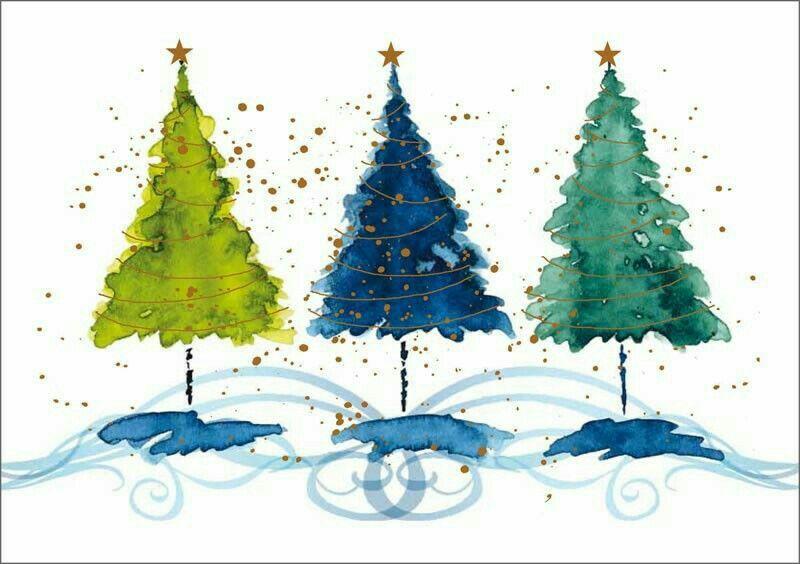 Pin Von Ir Grishina Auf Christmas Aquarell Weihnachten Gemalte