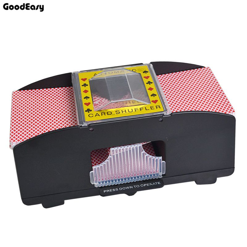 Professional Advanced Casino 2 Deck Plastic Shuffler Playing Card Shuffler Poker Card Shuffler Automatic Machine Poker Cards Classic Toys Health Meal Plan